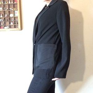 Topshop Jackets & Coats - TOPSHOP Sleek Flowy Long Black Professional Blazer